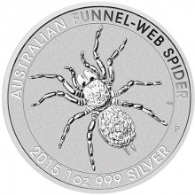 1 troy ounce silver coin Funnelweb Spider