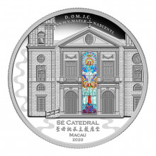 3 troy ounces silver coin Cathedral of Macau 2020 Proof