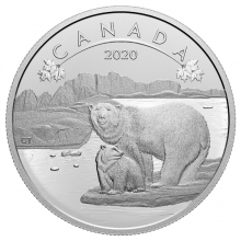 Silver coin polar bears O Canada series 2020