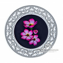 Silver coin Flower Emblems of Canada Mayflower