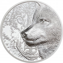 1 troy ounce silver coin Mystic Wolf 2021 Proof