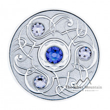 Silver coin september Birthstone Swarovski 2020