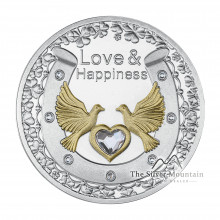 Silver coin Swarovski love and happiness 2021 Proof
