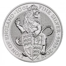 10 Troy ounce silver coin Queens Beasts Lion