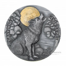 2 troy ounce silver coin Gray Wolf - Antique Finish 2020