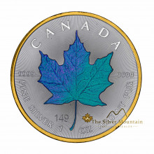 1 troy ounce silver coin Maple Leaf Chameleon 2020