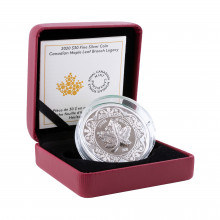 Silver coin Canadian Maple Leaf brooch legacy 2020