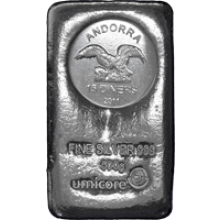 500 Grams silver coin bar Andorra