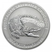 1 troy ounce silver coin Saltwater Crocodile 2014