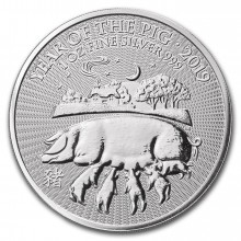 1 Troy ounce silver coin Lunar UK 2019 - Year of the Pig