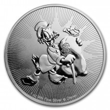 1 Troy ounce silver coin Scrooge McDuck 2018