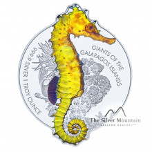 1 troy ounce silver coin Seahorse Proof 2020