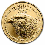 Gold 1/10 troy ounce American Eagle coin 2021