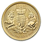 1/10 Troy ounce golden Royal Arms 2020