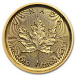 Gold 1/20 troy ounce Maple Leaf coin 2021