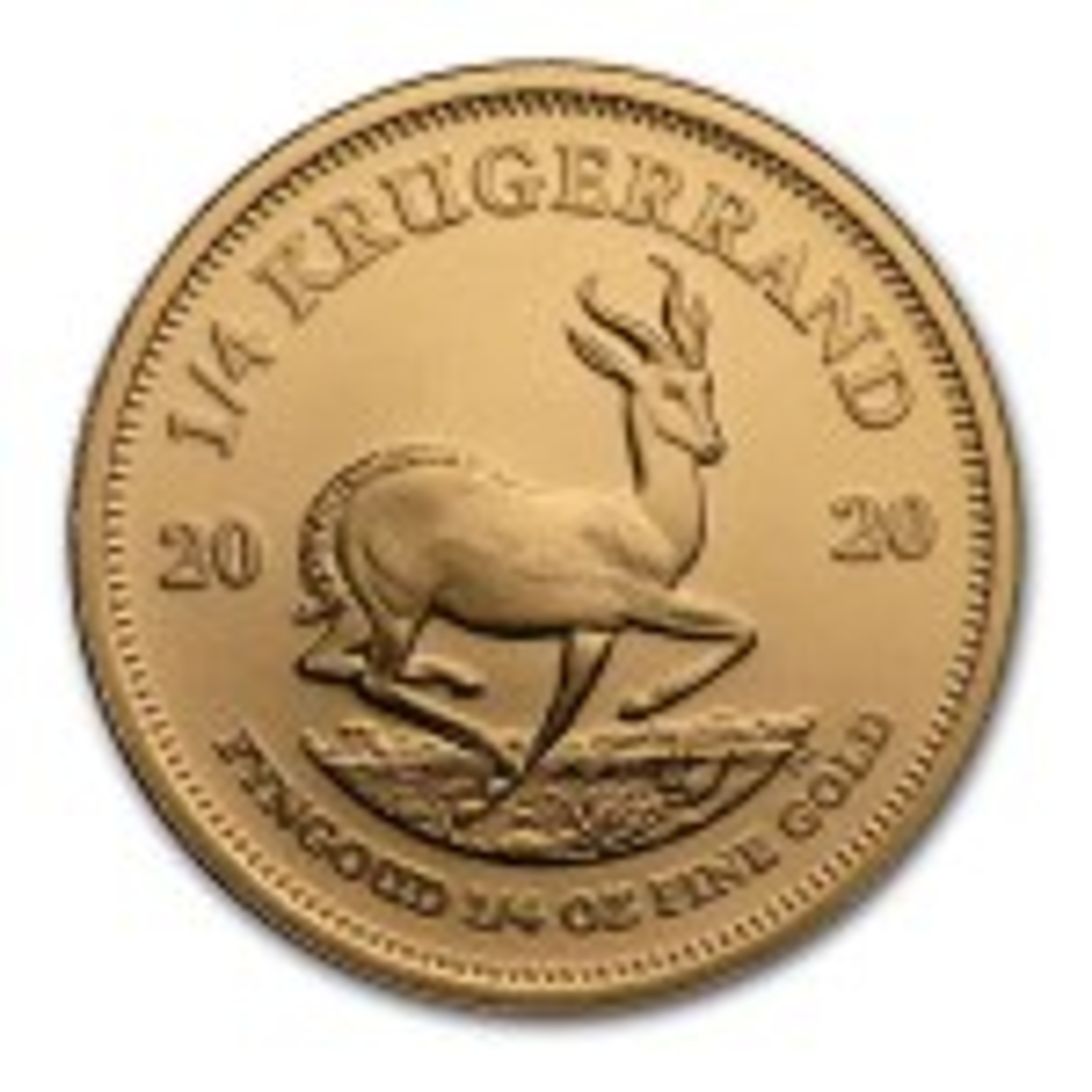 1/4 Troy ounce gold Krugerrand coin 2020