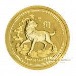 1/4 Troy ounce fine gold coin Lunar 2018 Year of the Dog