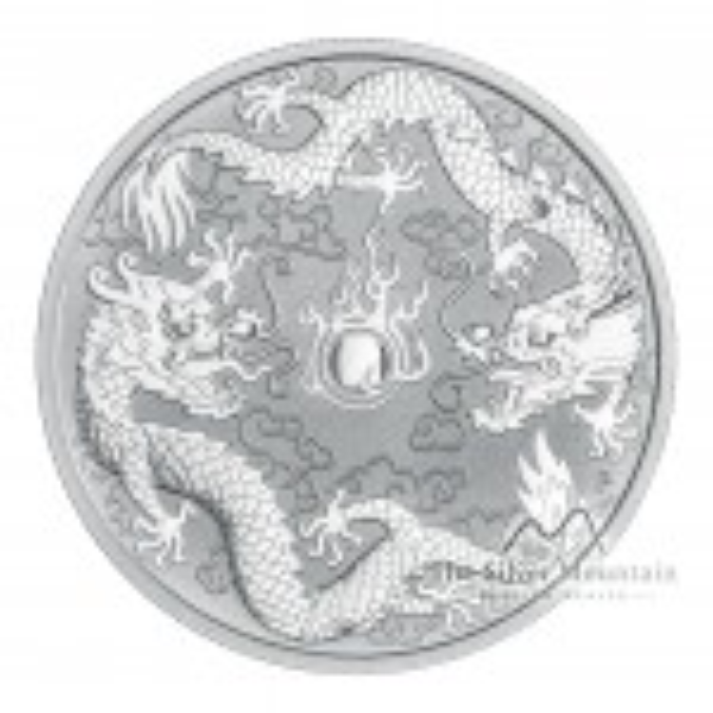 1 Troy ounce silver coin Double Dragon 2019