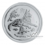 1 kilogram silver Lunar coin 2018 Year of the Dog