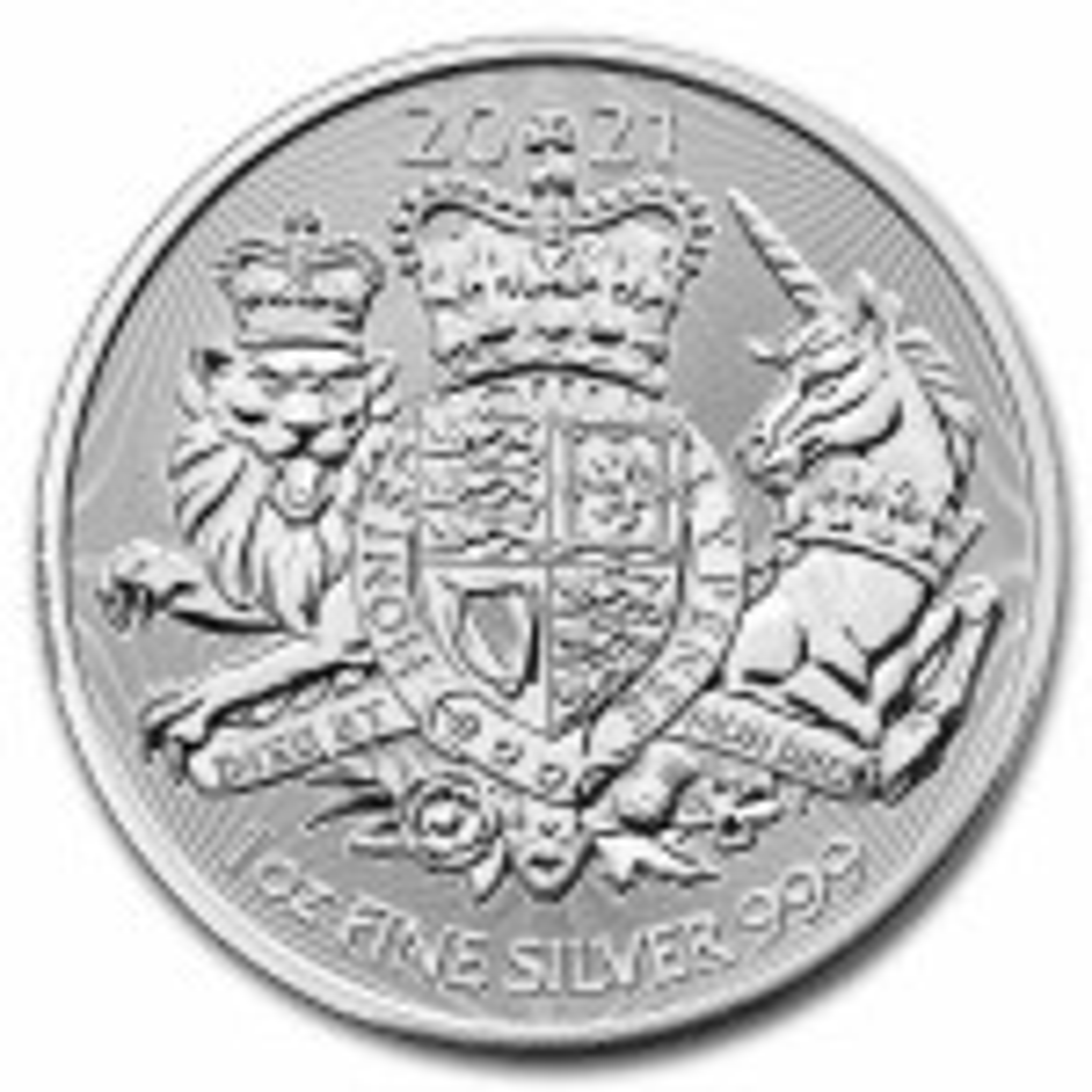 1 Troy ounce silver coin Royal Arms 2021