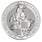 10 Troy ounce silver coin Queens Beasts Black Bull 2019