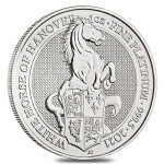 1 Troy ounce platinum coin Queens Beasts White Horse
