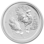 10 Troy ounce silver Lunar coin 2017 - year of the rooster