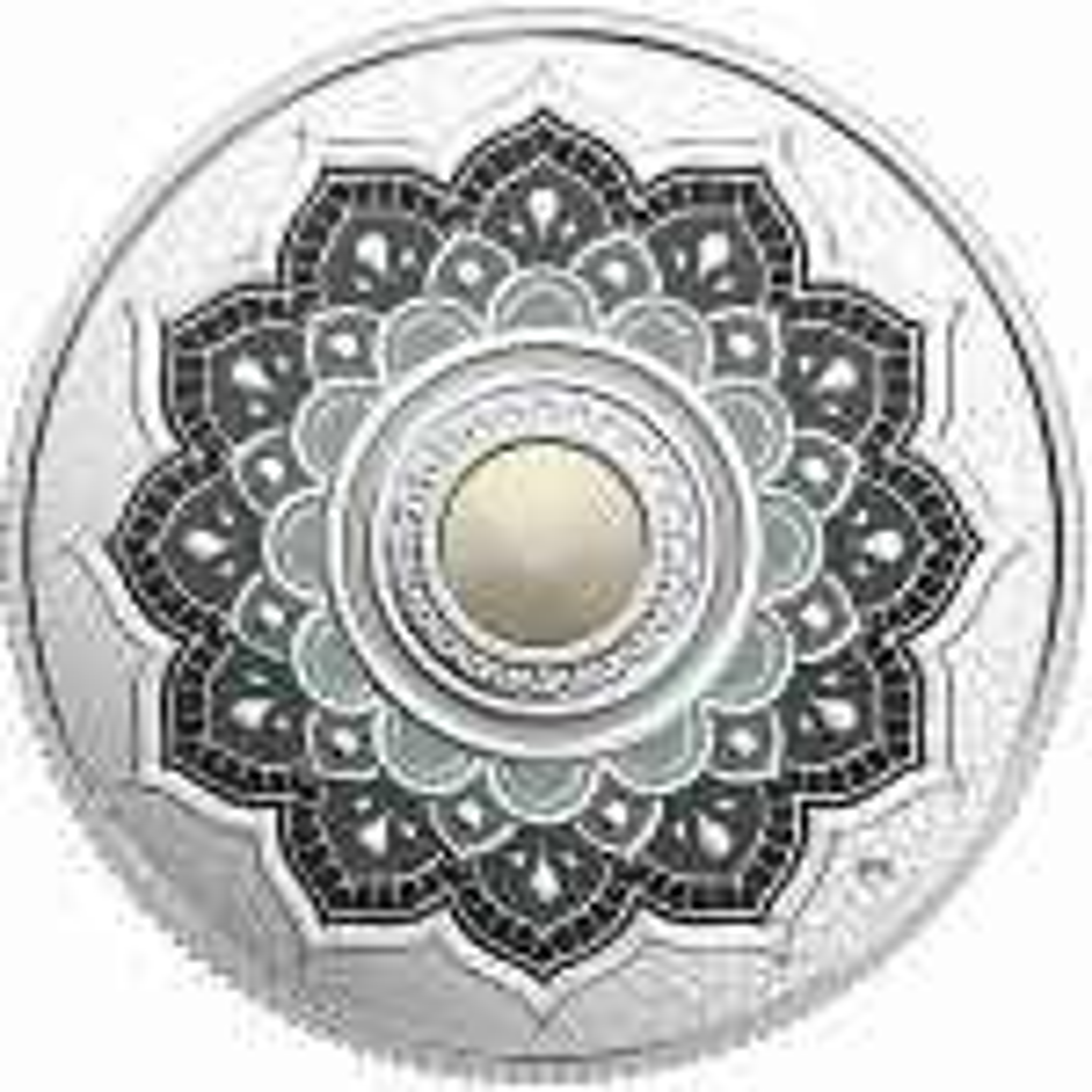Silver coin June Birthstone Swarovski