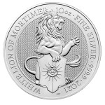 10 Troy ounce silver coin Queens Beasts White Lion