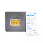 Umicore 2.5 grams goldbar with certificate