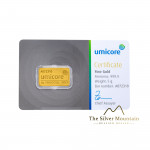 Umicore 5 grams goldbar with certificate