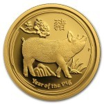 1/4 Troy ounce gold coin Lunar 2019 Proof