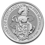 1 Troy ounce platinum coin Queens Beasts Unicorn 2019