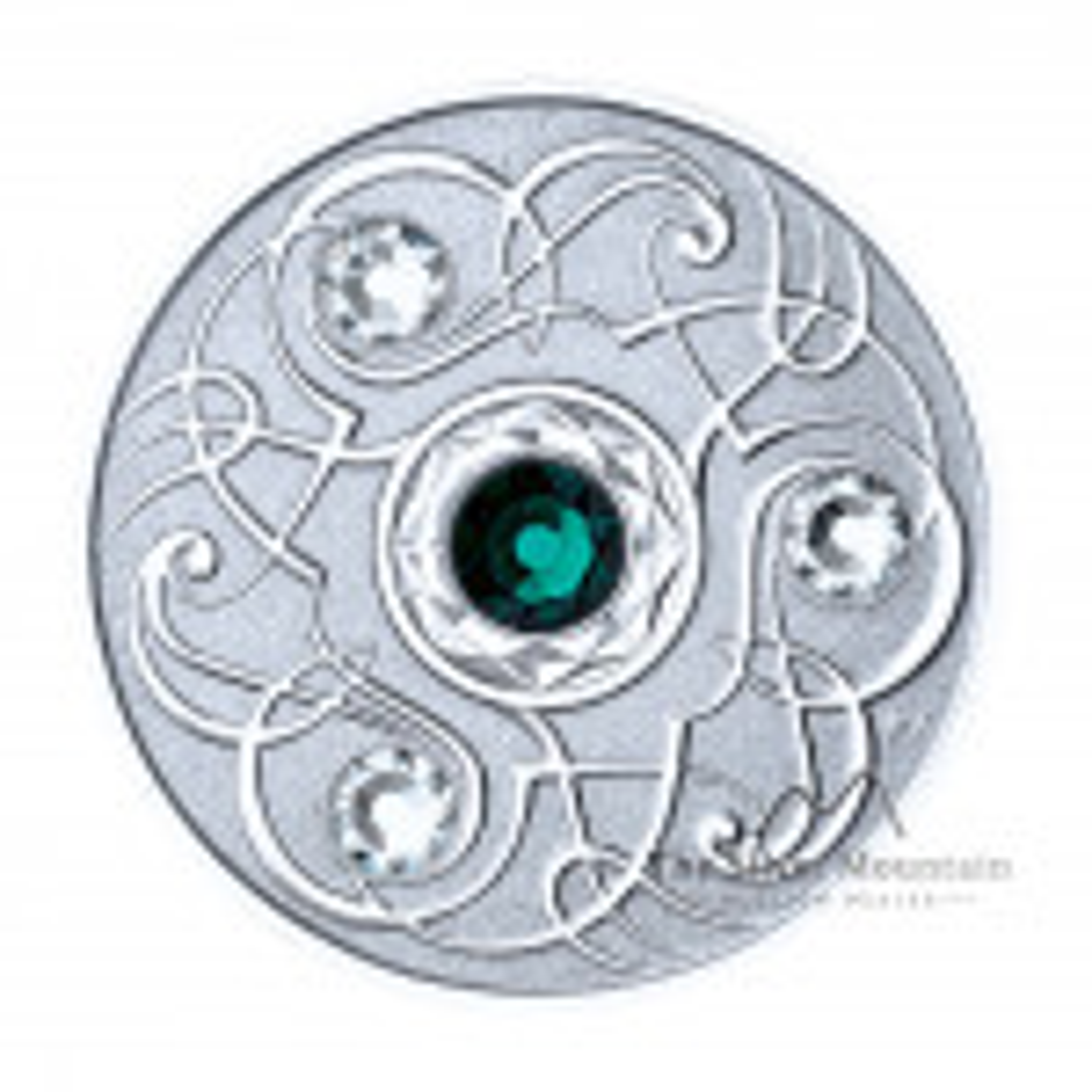 Silver coin May Birthstone Swarovski 2020