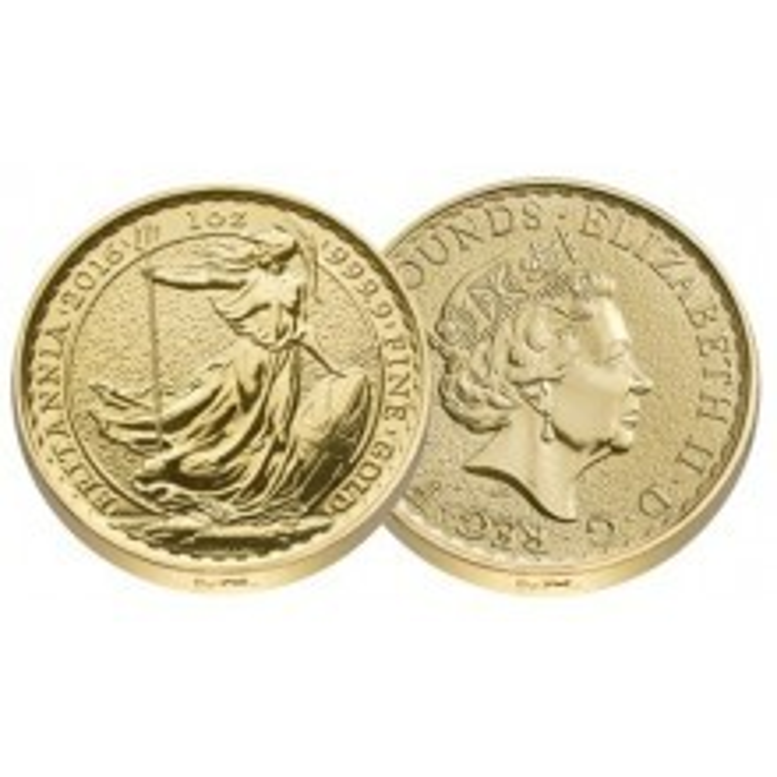 1 Troy ounce gold coin Britannia 2016 Lunar privy edge