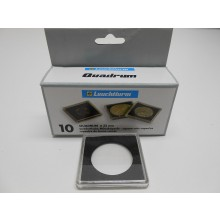 Box of 10x Leuchtturm protective quadrum coin capsules 33 mm