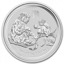 1 kilo silver Lunar coin 2016 - year of the monkey- Perth Mint