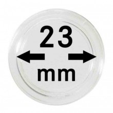 Box of 10x Leuchtturm protective coin capsules 23 mm