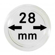 Box of 10x Leuchtturm protective coin capsules 28 mm
