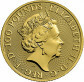 1 Troy ounce gold coin Queens Beasts White Greyhound 2021 - back