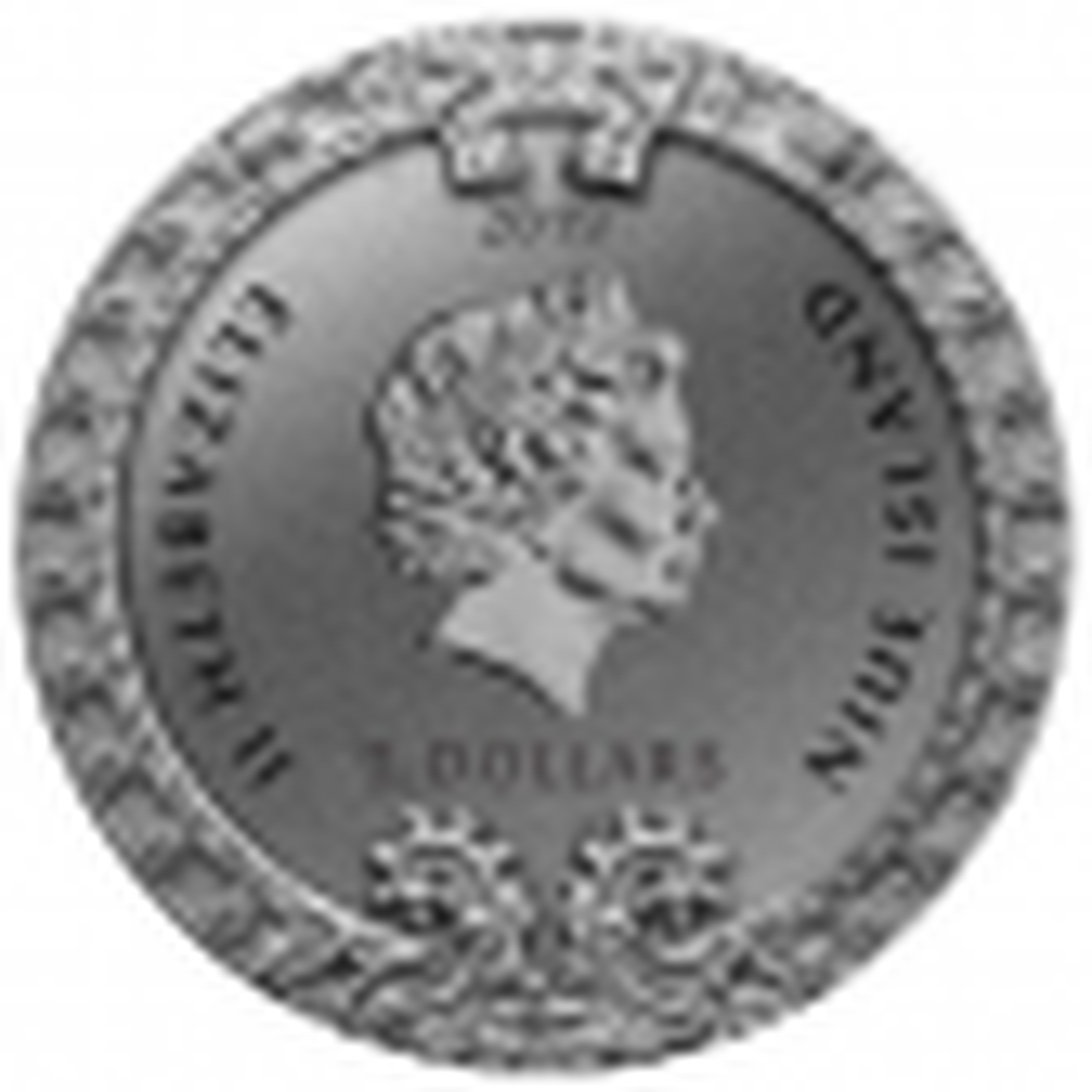 2 Troy ounce zilveren munt Niue Azteekse kalender 2019 achterzijde