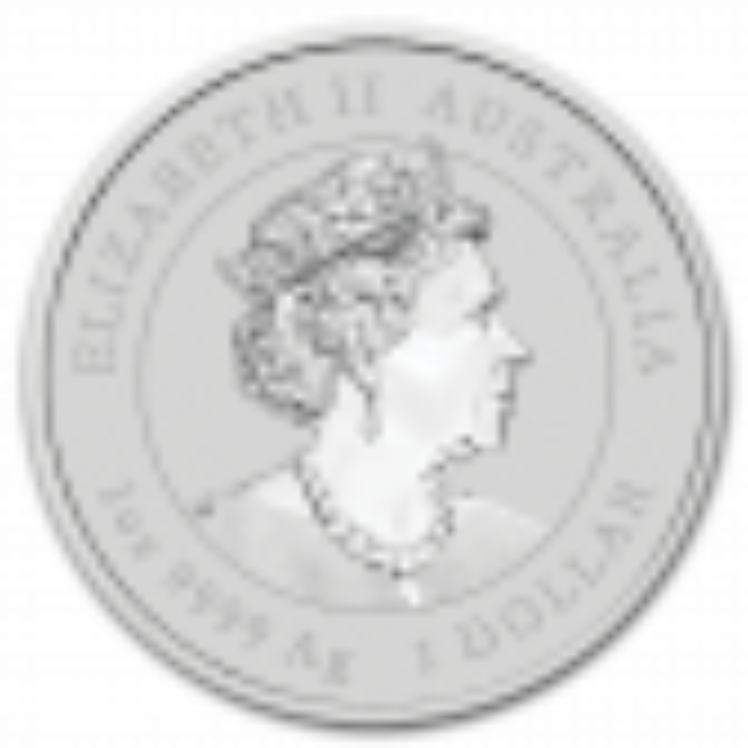 1 Troy ounce silver coin Lunar 2020 reverse