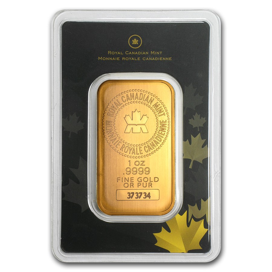 Gold Bar By The Royal Canadian Mint 1 Troy Ounce Fine Your Bars At Silver Mountain