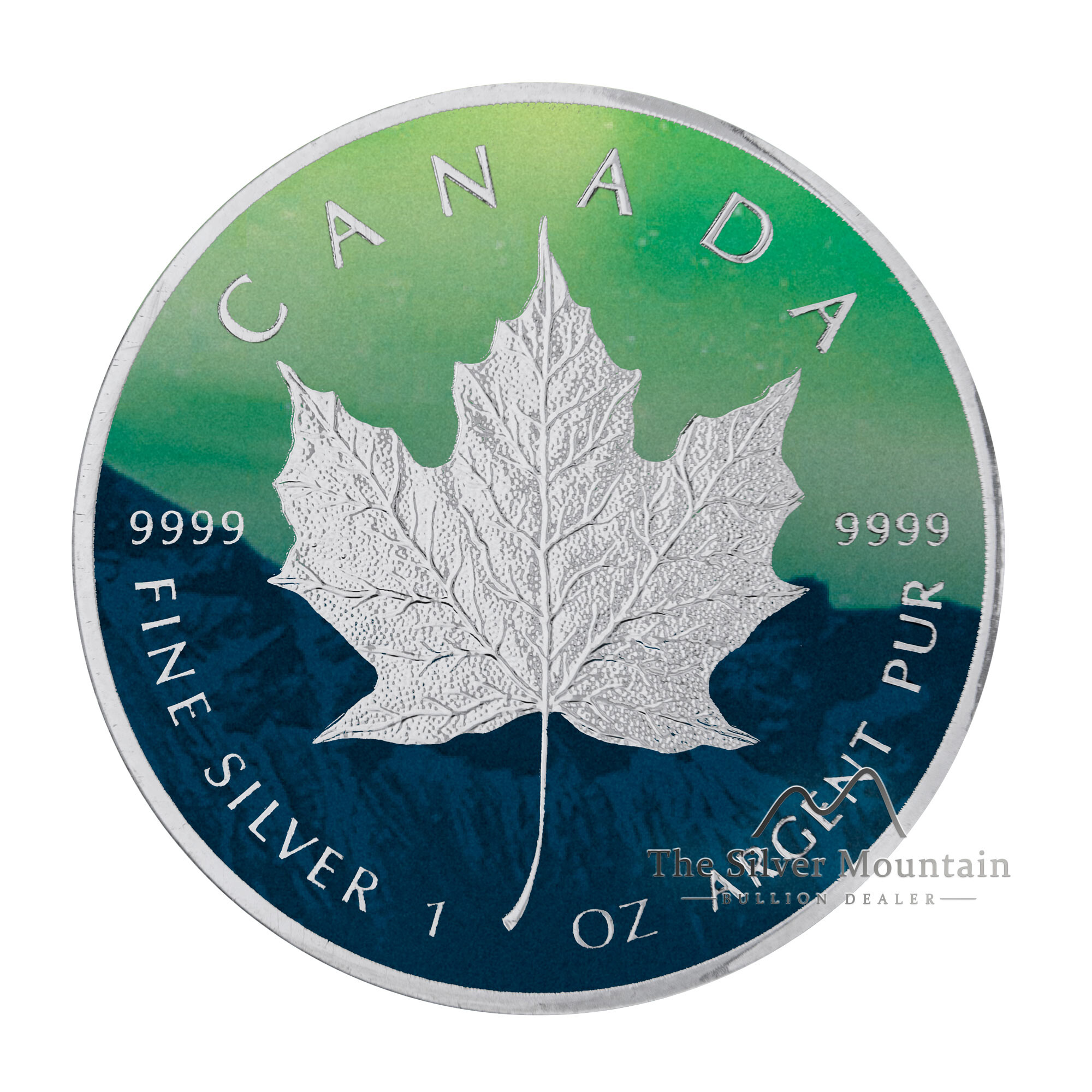 1 troy ounce zilveren Maple Leaf 2020 - Noorderlicht