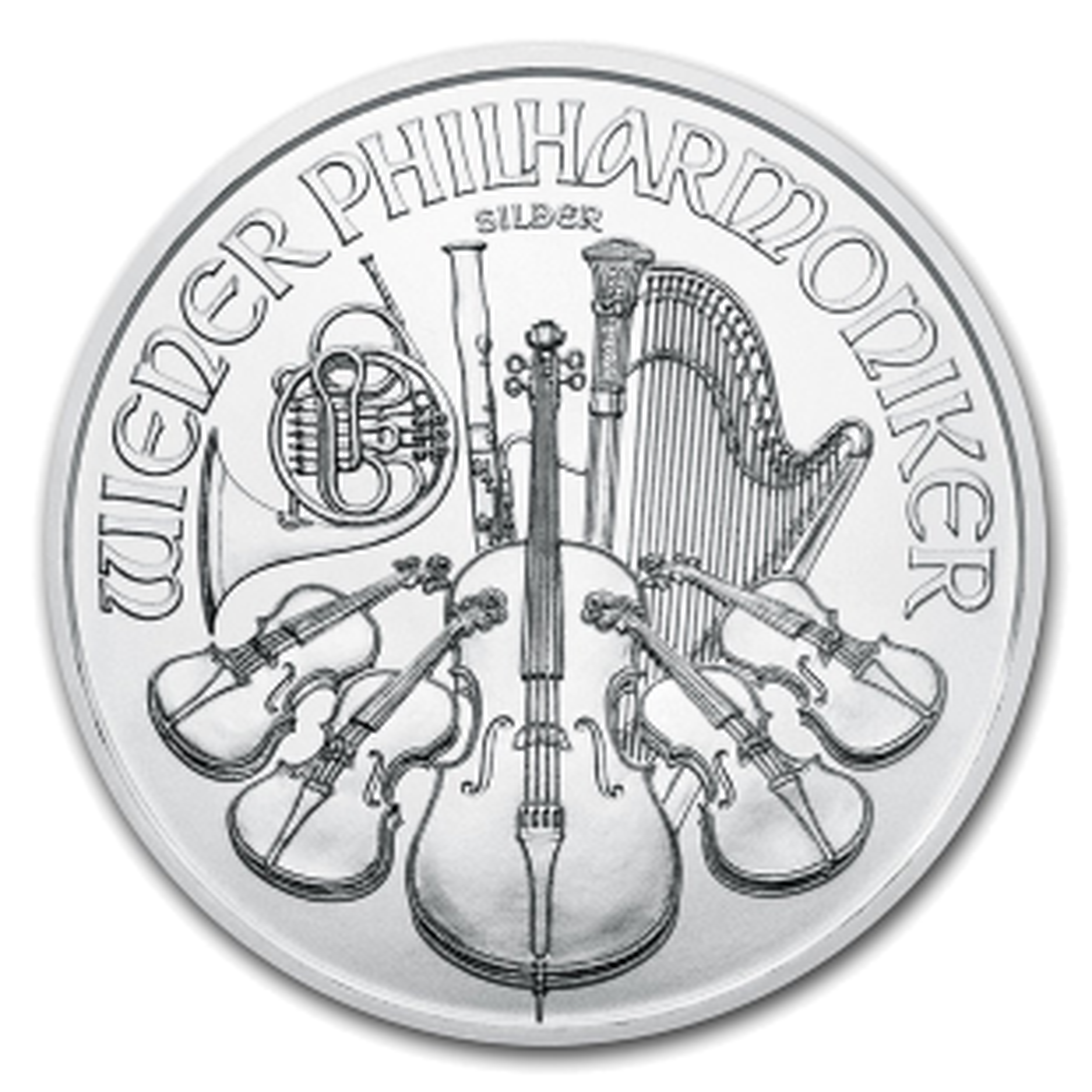 1 troy ounce zilveren munt Wiener Philharmoniker munt 2021
