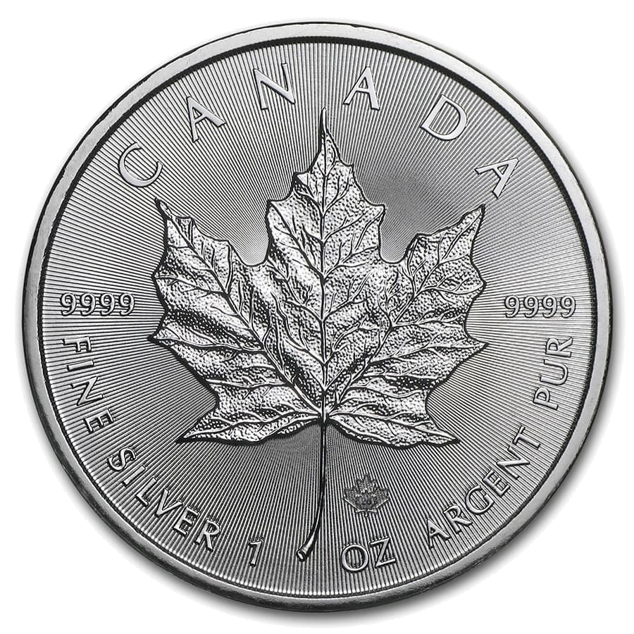 1 troy ounce zilveren Maple leaf 2021